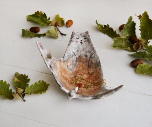Kotek miseczka- spersonalizowana podobizna Twojego kota