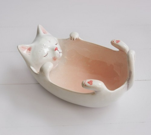 Kotek miska, yarn bowl 1