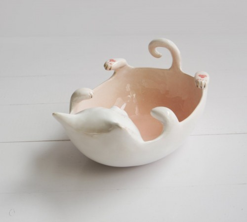 Kotek miska, yarn bowl 2