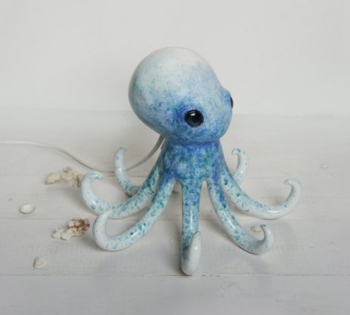 Ośmiornica niebieska- lampa nocna 2