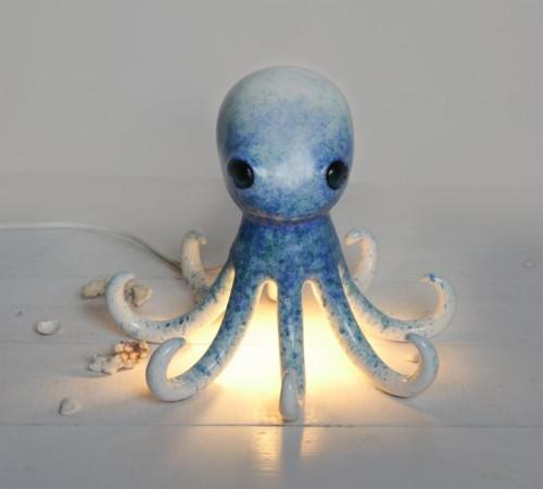 Ośmiornica niebieska- lampa nocna
