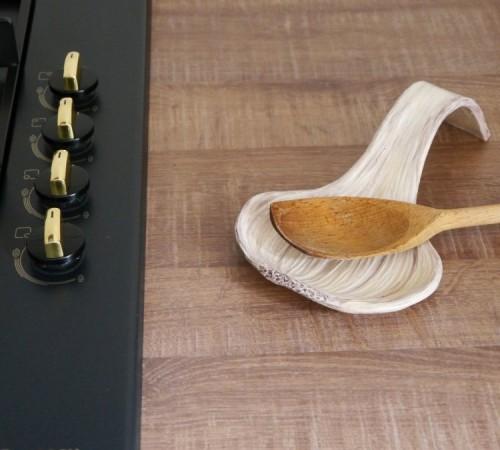 Komplet- pojemnik na czosnek i podstawka pod łyżkę
